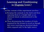 learning and conditioning in dugesia cont60