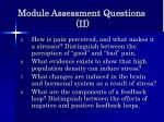 module assessment questions ii