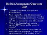 module assessment questions iii