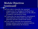 module objectives continued