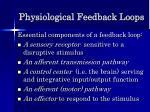physiological feedback loops