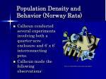 population density and behavior norway rats42
