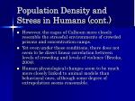 population density and stress in humans cont49