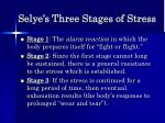 selye s three stages of stress