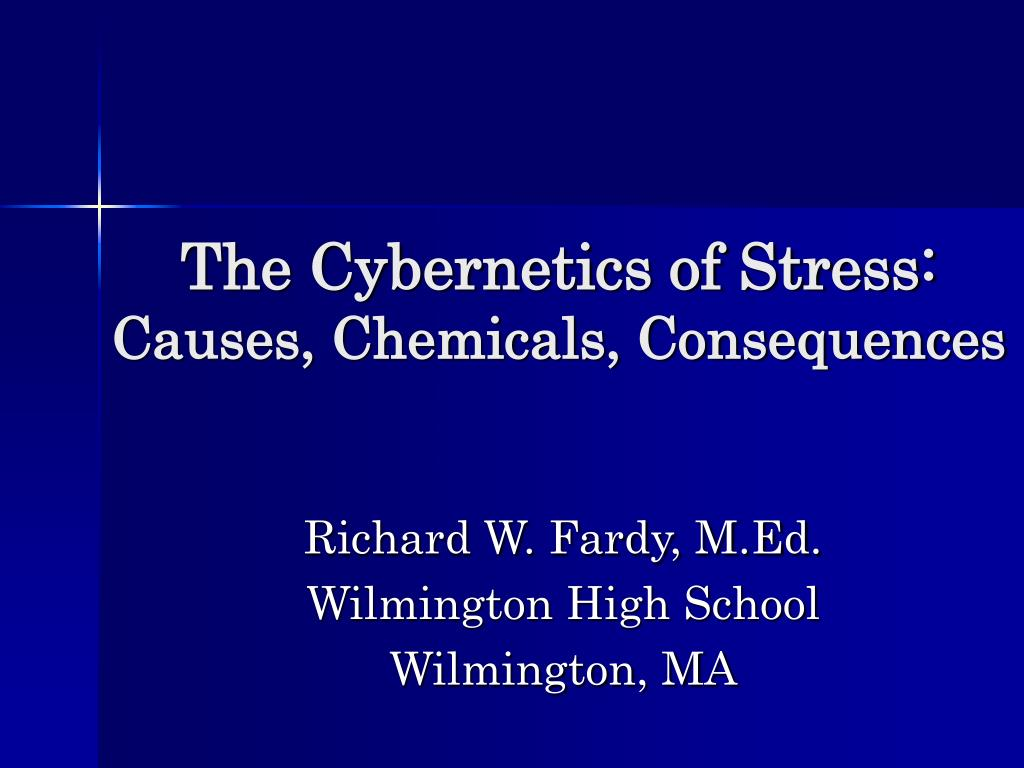 the cybernetics of stress causes chemicals consequences l.