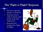 the fight or flight response