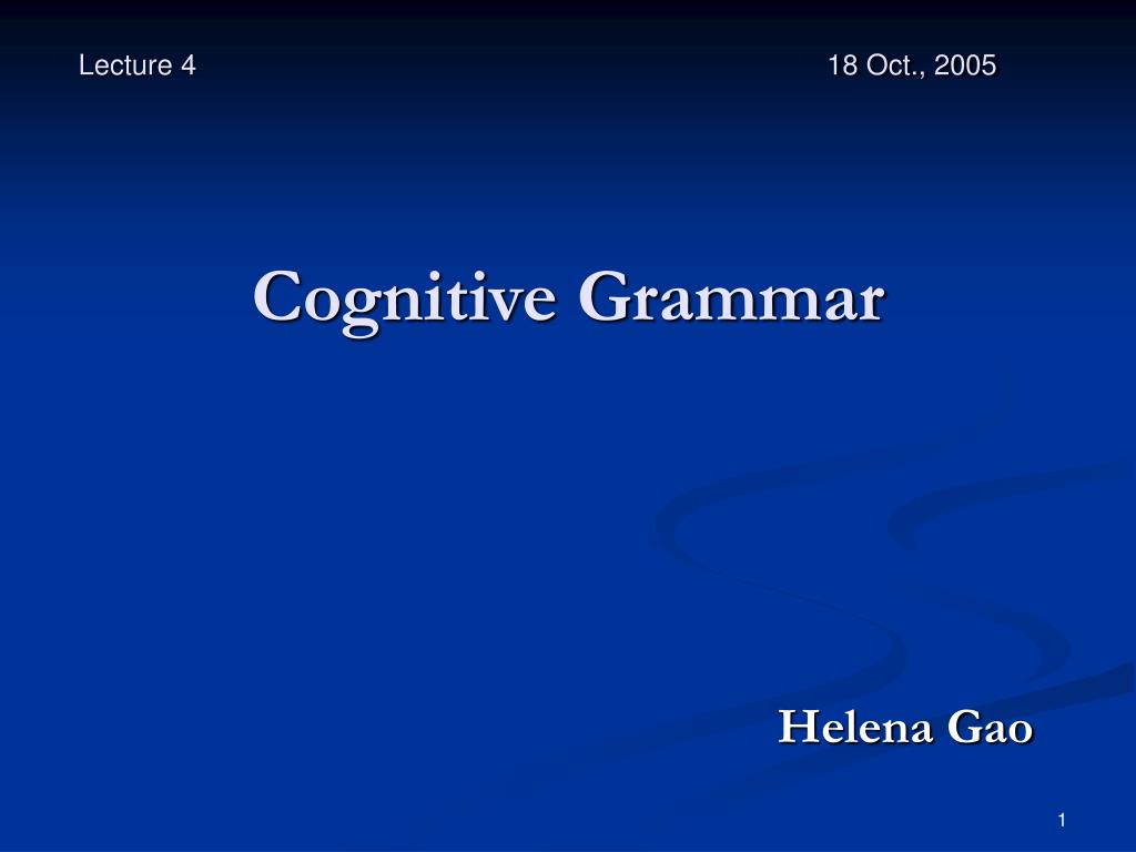 cognitive grammar l.