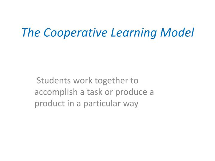 the cooperative learning model n.