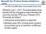 benefit for proton pump inhibitors ppi