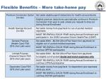 flexible benefits more take home pay