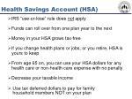 health savings account hsa50