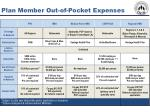 plan member out of pocket expenses