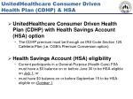 unitedhealthcare consumer driven health plan cdhp hsa