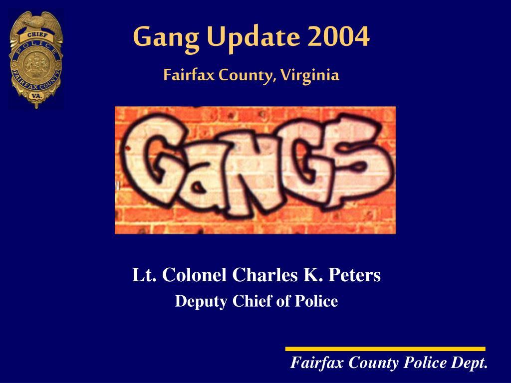 gang update 2004 fairfax county virginia l.