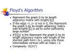 floyd s algorithm