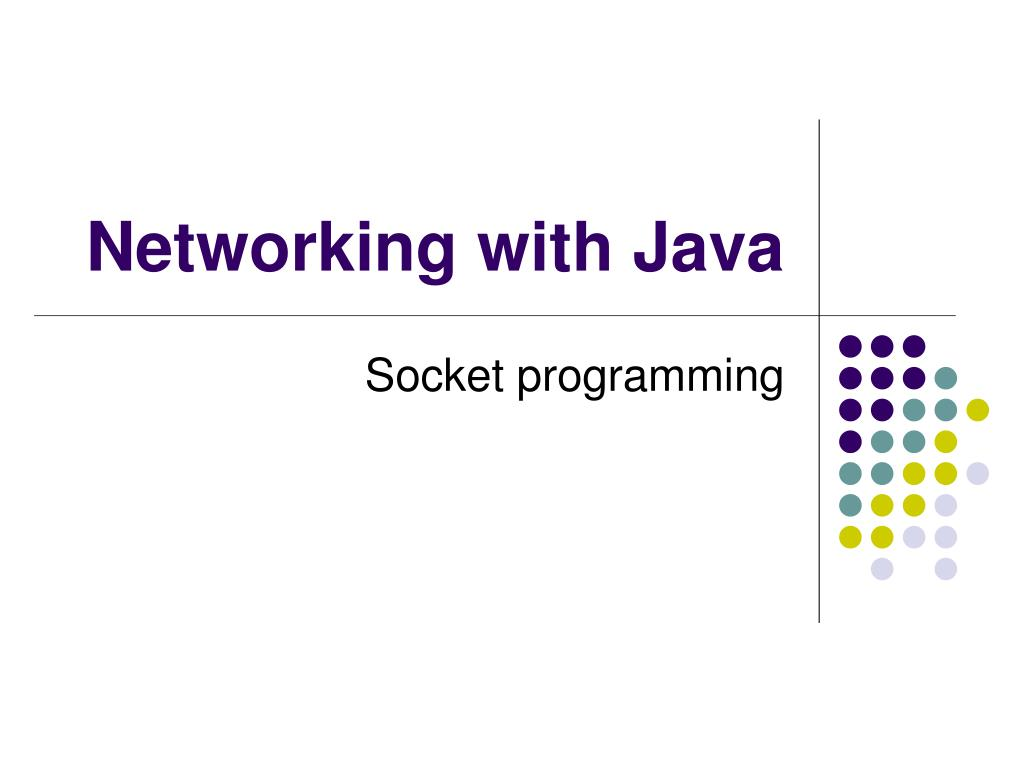 networking with java l.