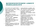 misconceptions about probability