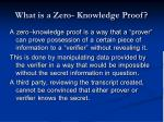 what is a zero knowledge proof
