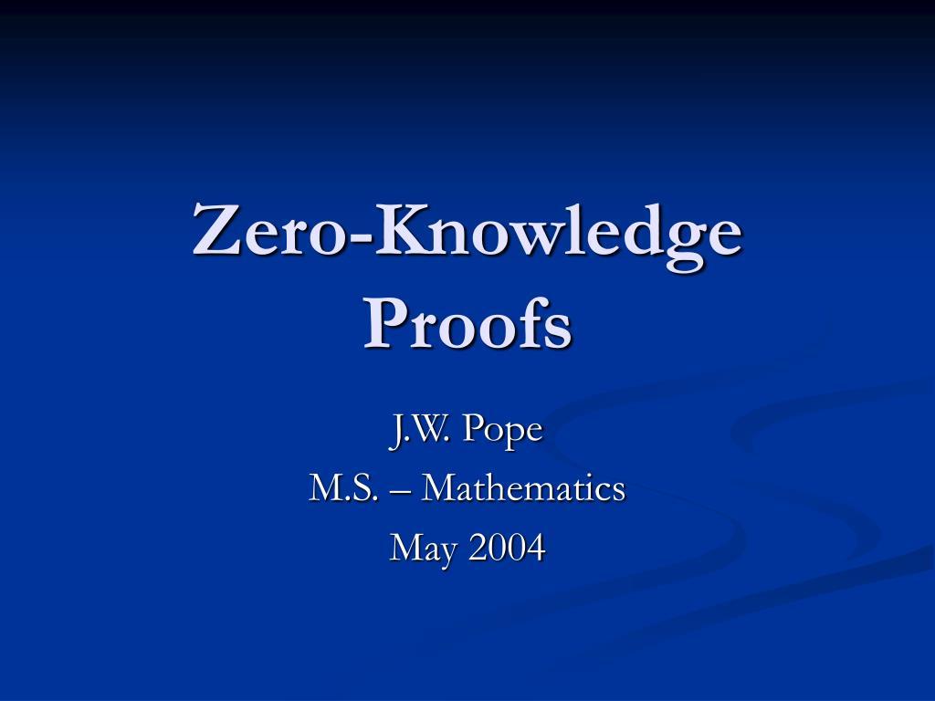 zero knowledge proofs l.