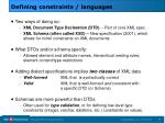 defining constraints languages