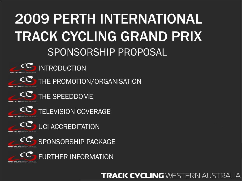 2009 perth international track cycling grand prix l.