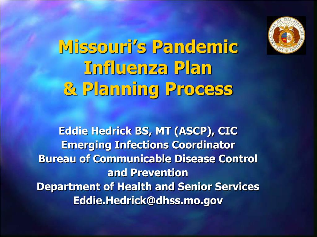 missouri s pandemic influenza plan planning process l.