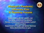 missouri s pandemic influenza plan planning process