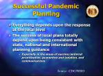 successful pandemic planning