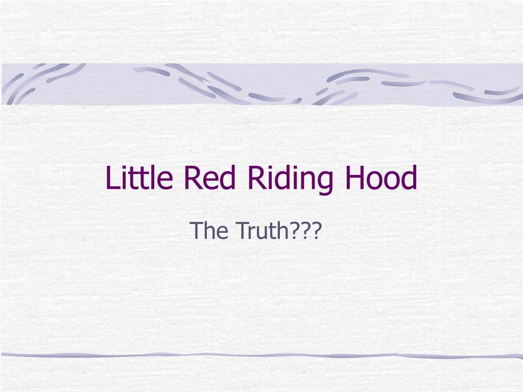 little red riding hood l.
