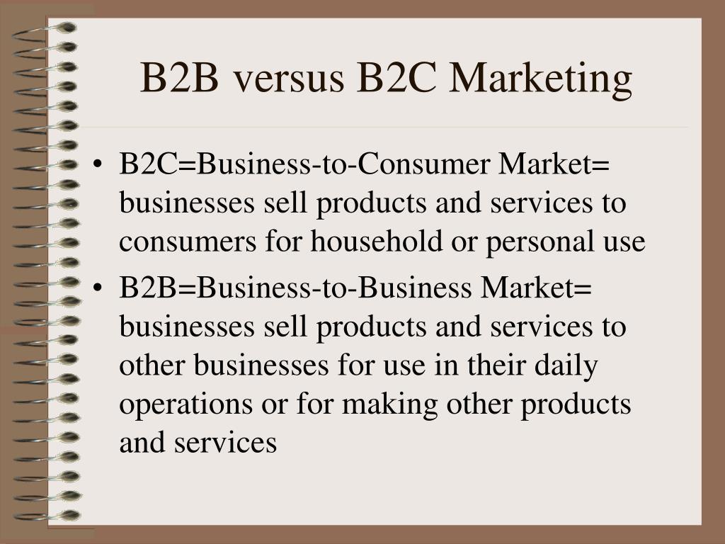 b2b versus b2c marketing l.