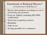 emotional or rational buyers considerations of b2b buyers