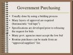 government purchasing