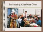 purchasing climbing gear