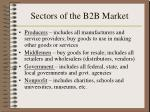 sectors of the b2b market4
