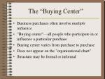the buying center