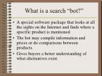 what is a search bot