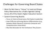 challenges for governing board states
