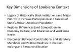 key dimensions of louisiana context