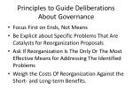 principles to guide deliberations about governance