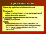 alpha beta cut off