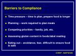 barriers to compliance