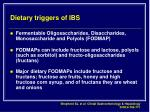 dietary triggers of ibs