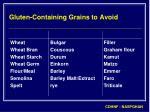 gluten containing grains to avoid