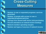 cross cutting measures