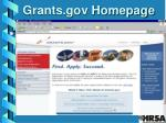 grants gov homepage