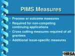pims measures