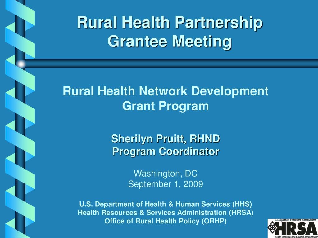 rural health partnership grantee meeting l.
