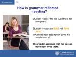 how is grammar reflected in reading