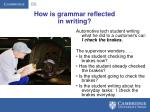 how is grammar reflected in writing
