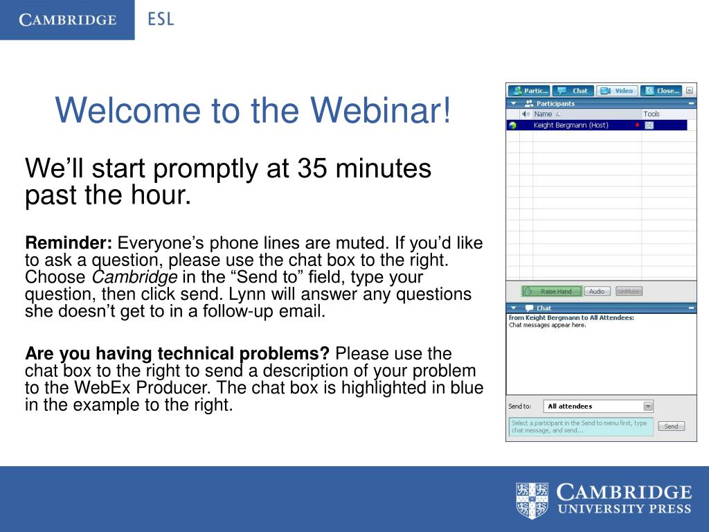 welcome to the webinar l.